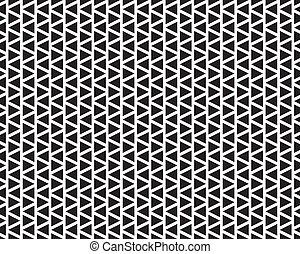 Abstract triangle pattern seamless background black white