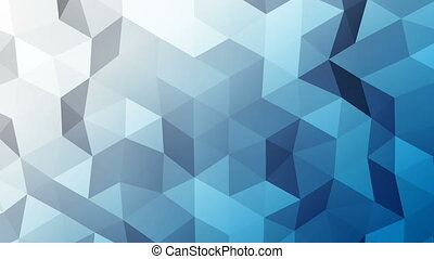 Abstract triangle polygons background loopable