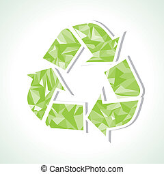Abstract triangle recycle icon ,vector illustration