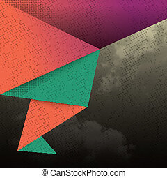 Abstract Triangle Shape Background