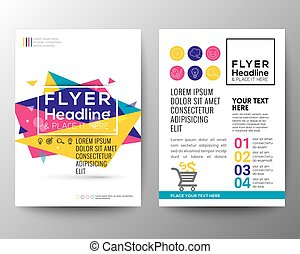 Abstract Triangle shape Poster Brochure Flyer design Layout vector template