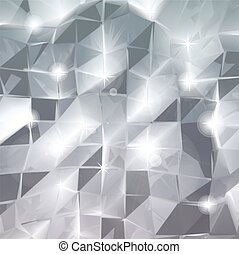 Abstract triangle silver background. Vector