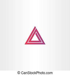 abstract triangle spiral logo vector