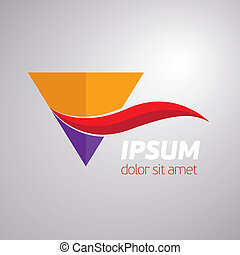 Abstract triangle symbol - Abstract vector triangle symbol...
