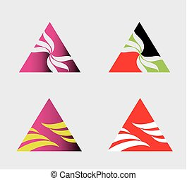 Abstract triangle symbol logo set