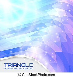 Abstract triangle wave background, going to the perspective. Vector