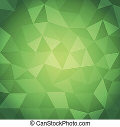 Abstract triangle with green background