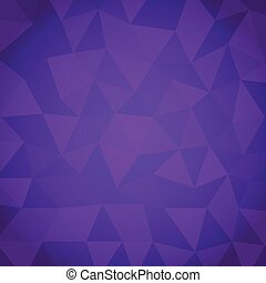 Abstract triangle with violet background