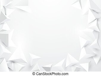 Abstract triangles 3d polygonal background