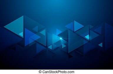 Abstract triangles and futuristic technology concept background