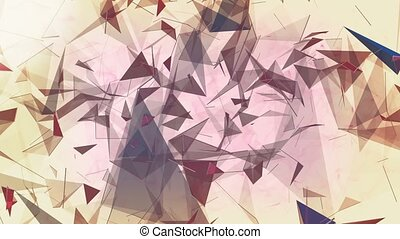 Abstract triangles on white