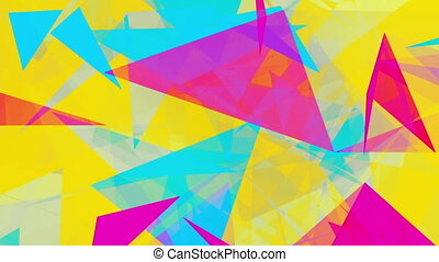 Abstract triangles on yellow