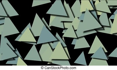 abstract triangles pattern slowly m