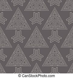 abstract triangles seamless pattern
