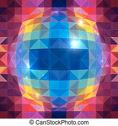 Abstract triangles sphere vector seamless pattern
