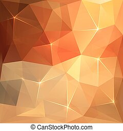 Abstract triangles vector orange background