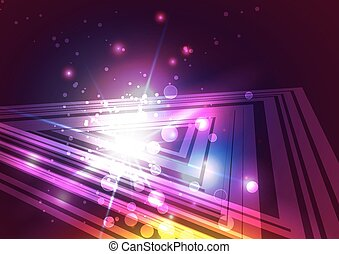 Abstract Triangles with Light Background
