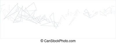 Abstract triangular background on the white