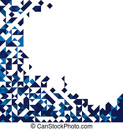 Abstract triangular background with place for text
