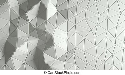 abstract triangular crystalline background animation.