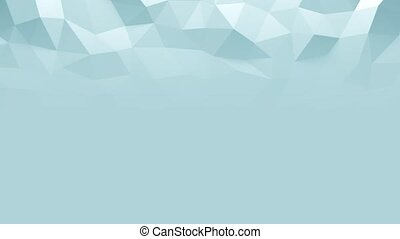abstract triangular crystalline background animation. 3d...