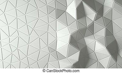 abstract triangular crystalline background animation. 4K -...