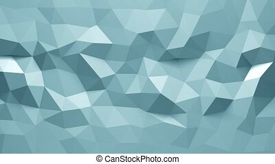 abstract triangular crystalline background animation. 4K -...