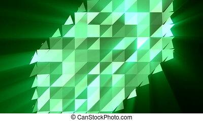 Abstract triangular crystalline background animation -...