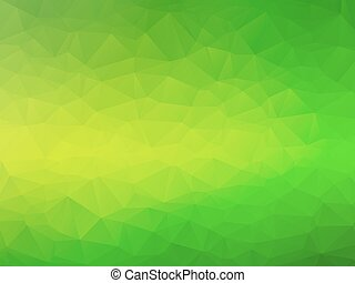 yellow green bio background - abstract triangular yellow...