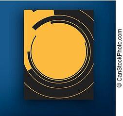 abstract, trifold, vector, ontwerp, mal, informatieboekje , cirkel, geometrisch