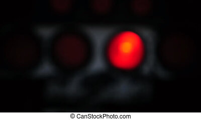Abstract truck lights blinking out of focus - seamless loop