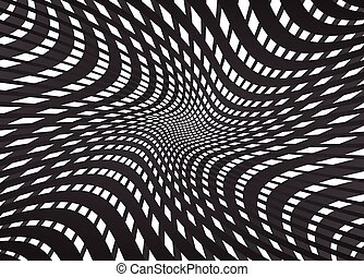 abstract tunnel grid black and white background
