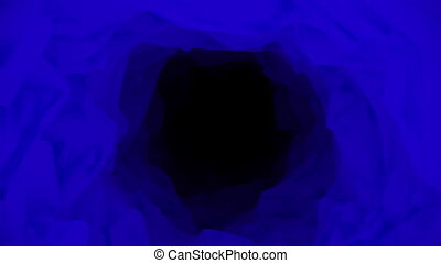 Abstract tunnel in blue