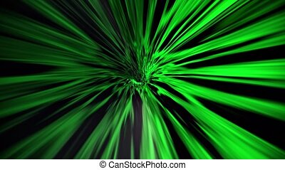 Abstract tunnel in green color