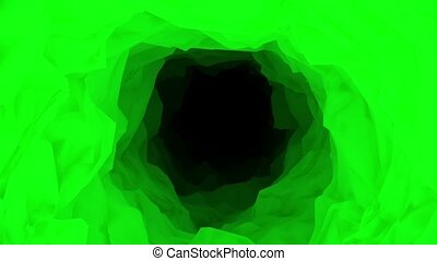 Abstract tunnel in green