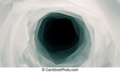 Abstract tunnel in white