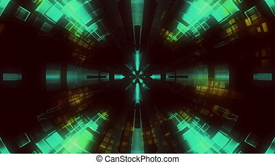 Abstract tunnel VJ loop