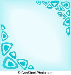 abstract turquoise background as a frame of triangles