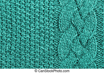 abstract turquoise knitted wool background - abstract...