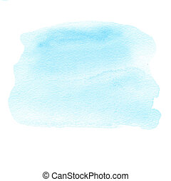 Abstract Turquoise Watercolor background. Colorful blue ...