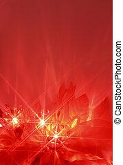 christmas lights - abstract twinkiling poinsettia christmas...