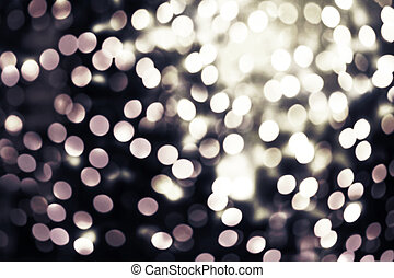 Abstract twinkled bright background with natural bokeh defocused lights