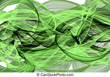 abstract twisted net wave - abstract green twisted net wave