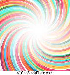 Abstract twisted rainbow background