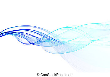 abstract twisted waves - abstract blue twisted waves on a...