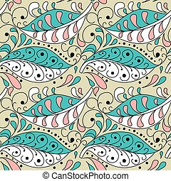 Abstract two-color seamless pattern with twig. Background, cover, wrapper, textile, fabric