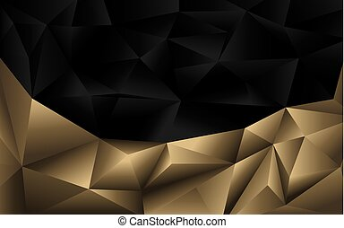 Element Of Design Tone : Background vertical polygon design gold and black luxury vector