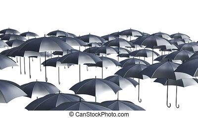 Abstract Umbrellas Soaring in the air loop background