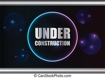 abstract under construction background with plasma design