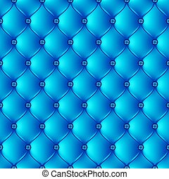 Abstract upholstery on a blue background.